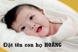 Đặt tên con trai họ Hoàng