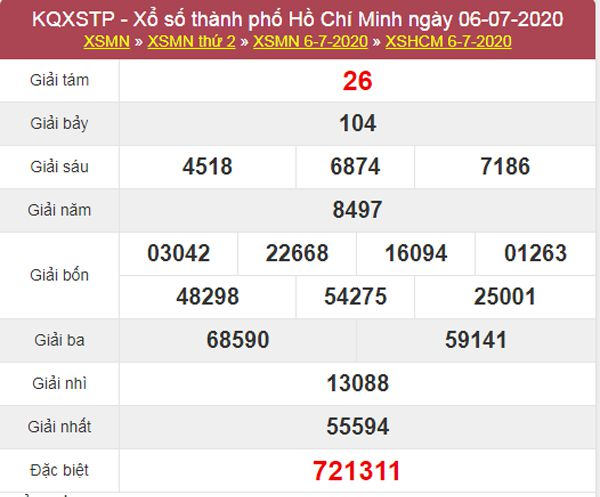 Dự đoán XSHCM 11/7/2020 - KQXS Hồ Chí Minh thứ 7