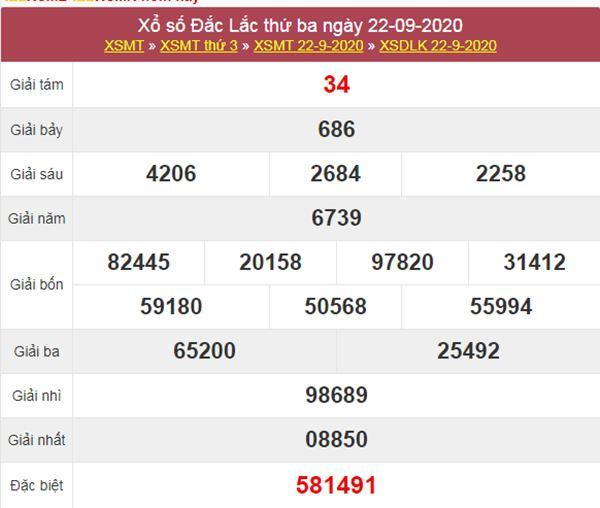 Dự đoán XSDLK 29/9/2020 chốt lô VIP ĐăkLắc thứ 3