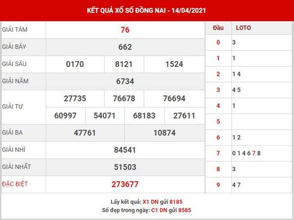 Dự đoán kết quả SX Đồng Nai thứ 4 ngày 21/4/2021