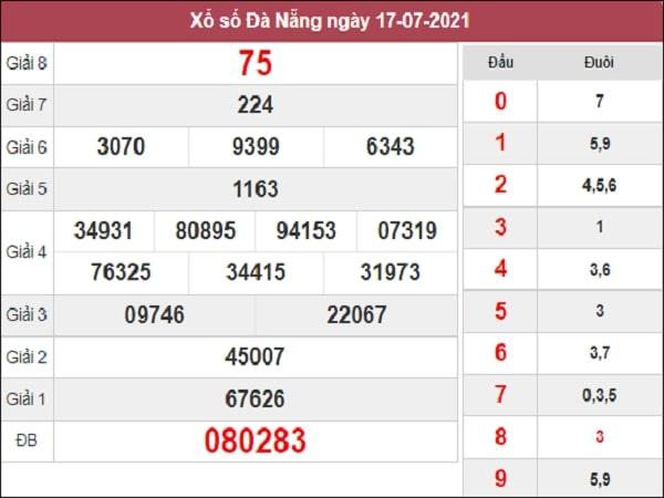 Dự đoán XSDNG 21-07-2021